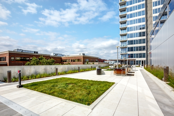 rooftop deck at E2 Apartments