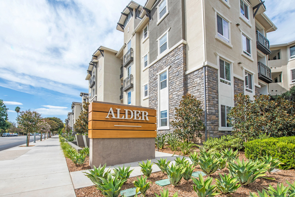 exterior at Alder Apartments
