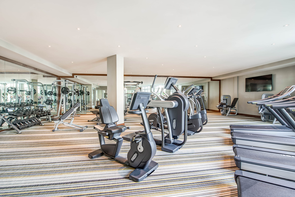 fitness center at Alder Apartments