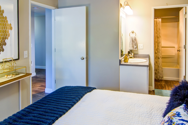bedroom at Heatherbrae Commons Apartments