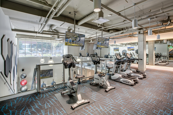 fitness center at Excelsior Apartments