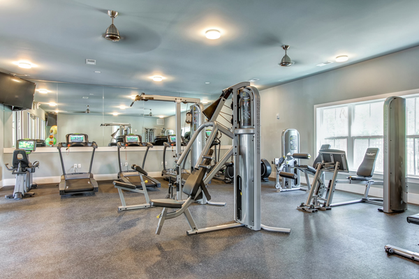 fitness room at The Ashley Apartments