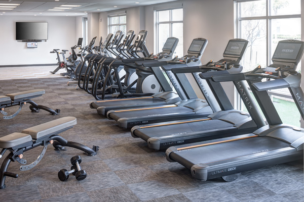 fitness center at Alexan Henderson Apartments