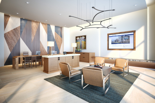 clubhouse rendering at Elan Mountain View Luxury Apartments