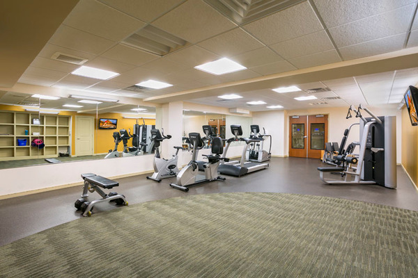 fitness center at Solera Apartments