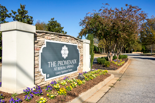signage at The Promenade at Boiling Springs Apartments