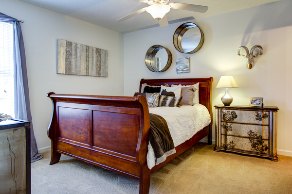 bedroom at The Promenade at Boiling Springs Apartments