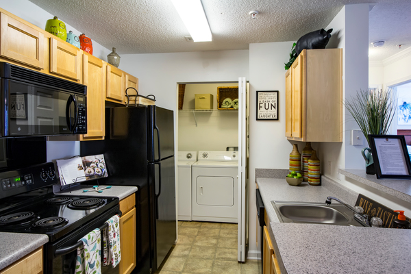 kitchen at The Promenade at Boiling Springs Apartments