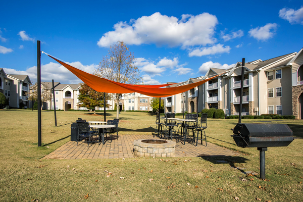 fire pit at The Promenade at Boiling Springs Apartments