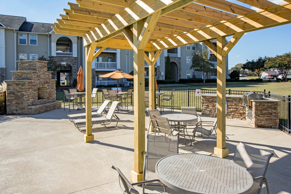 grill area at The Promenade at Boiling Springs Apartments