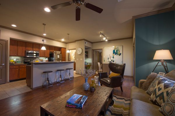 living room at Montage at Cinco Ranch Apartments