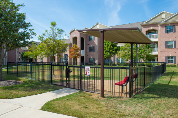 dog park at Montage at Cinco Ranch Apartments