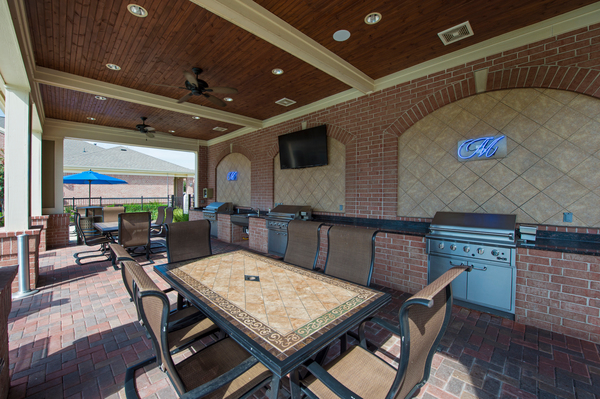 grill area at Montage at Cinco Ranch Apartments