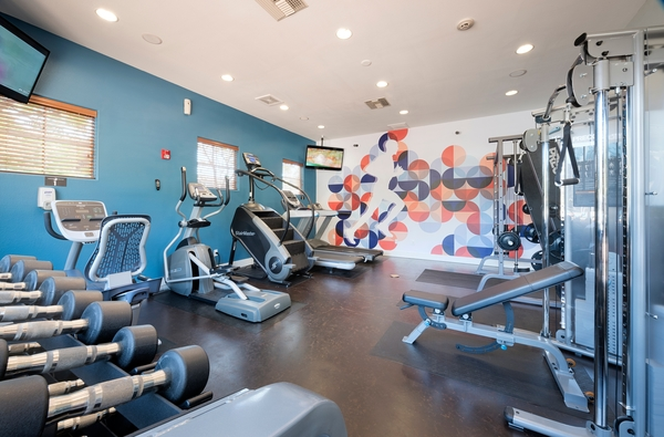 fitness center at Avana Dublin Station Apartments