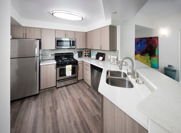 kitchen at Avana Dublin Station Apartments