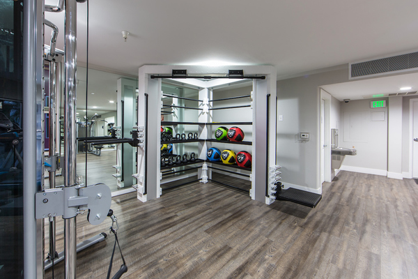 fitness center at Avana on Wilshire Apartments