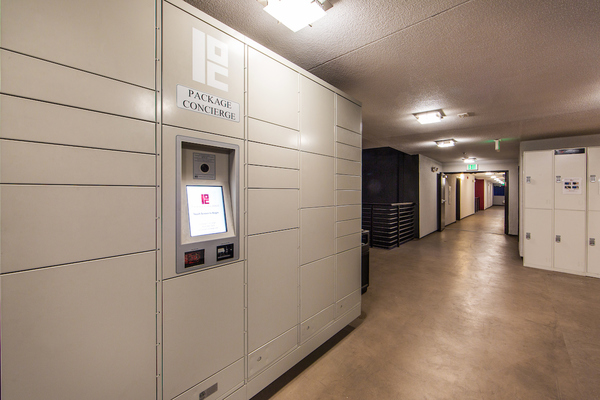 mail room at Avana on Wilshire Apartments