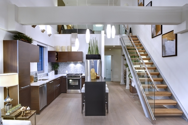 kitchen at Berkeley Central Apartments