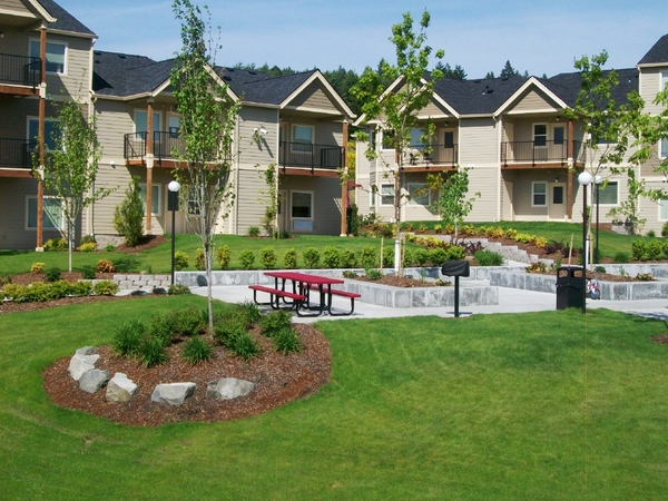 patio at Timberhill Meadows Apartments