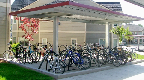 bike storage at Timberhill Meadows Apartments
