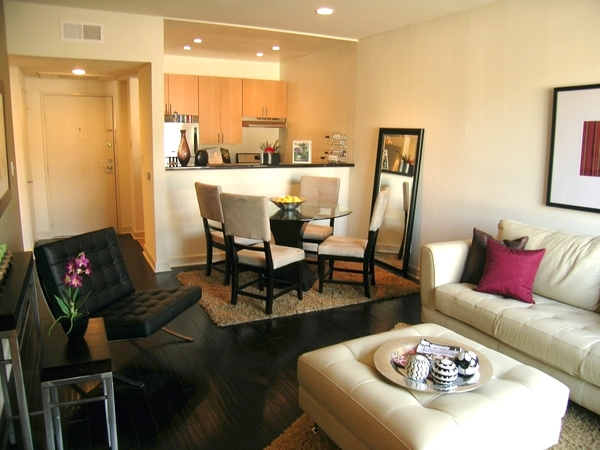 living room at Towers at Hollywood Hills Apartments