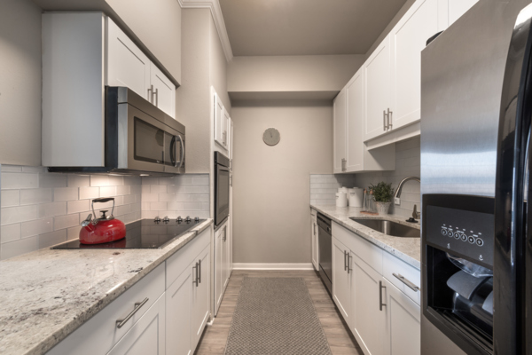 kitchen at SKYE of Turtle Creek Apartments