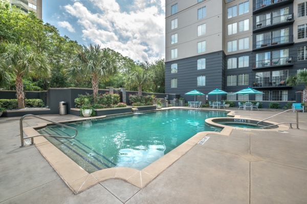pool at SKYE of Turtle Creek Apartments