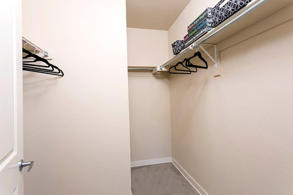closet at HiLine at Littleton Commons Apartments