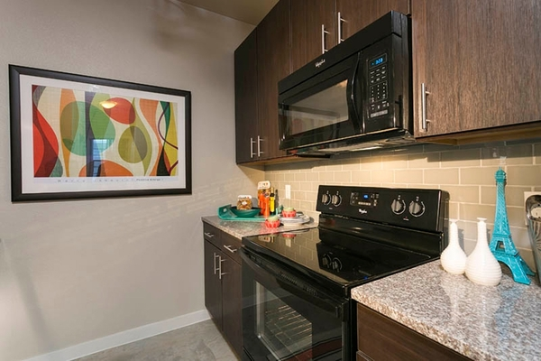 kitchen at HiLine at Littleton Commons Apartments