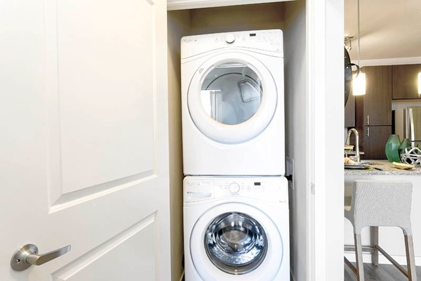 laundry room at HiLine at Littleton Commons Apartments