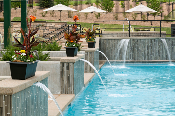 pool at HiLine at Littleton Commons Apartments