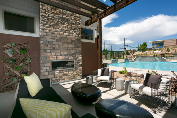 recreational area at HiLine at Littleton Commons Apartments