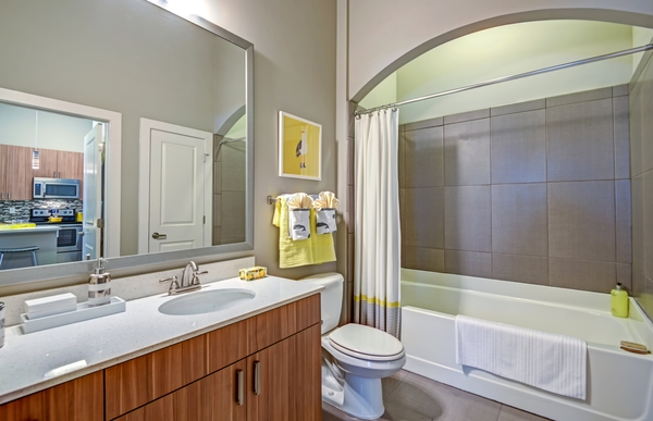 bathroom at Elan City Center Apartments