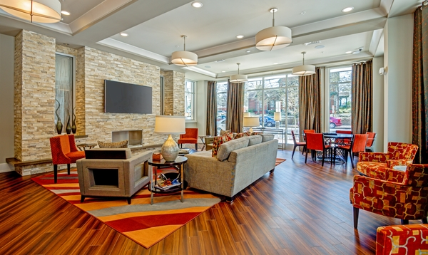 clubhouse at Elan City Center Apartments