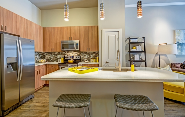 kitchen at Elan City Center Apartments