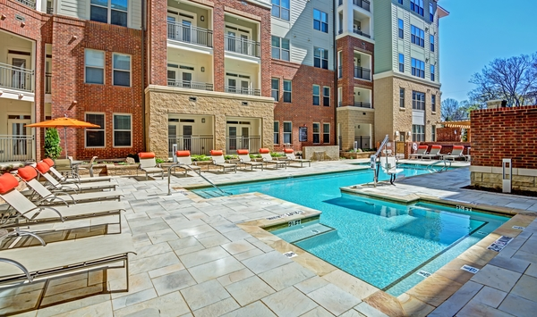 pool at Elan City Center Apartments