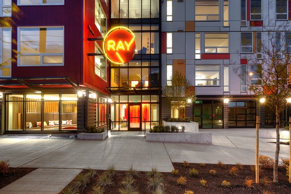 exterior at Ray Apartments