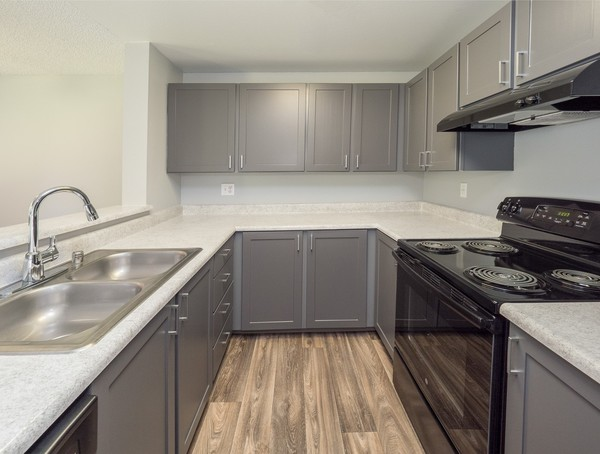 kitchen at Rainier Meadows Apartments