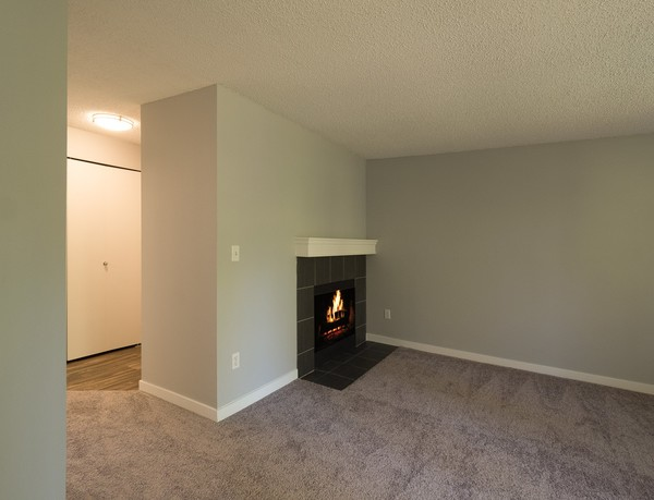living room at Rainier Meadows Apartments