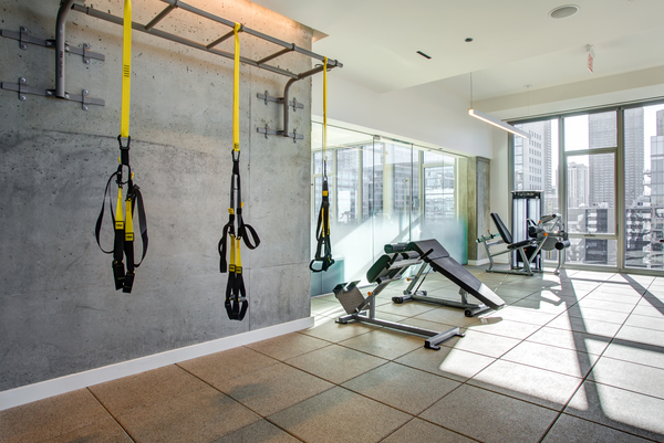 fitness center at EMME Chicago Apartments