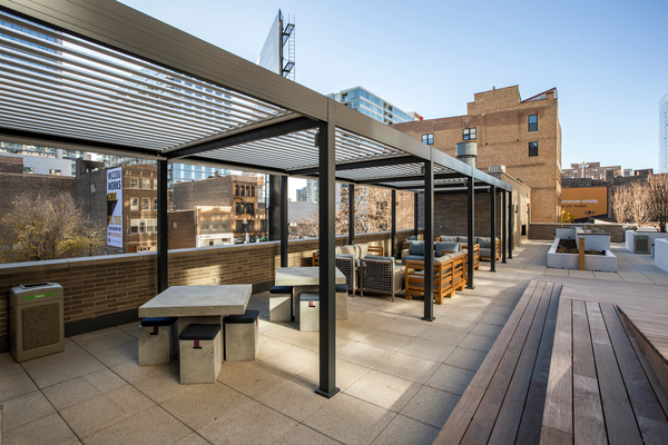 patio at EMME Chicago Apartments