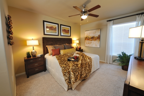 bedroom at Falls at Eagle Creek Apartments