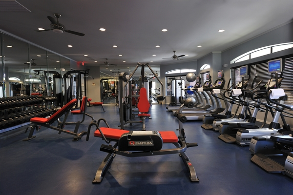 fitness room at Falls at Eagle Creek Apartments