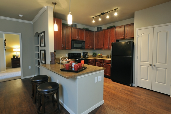 kitchen at Falls at Eagle Creek Apartments