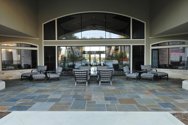 patio at Falls at Eagle Creek Apartments