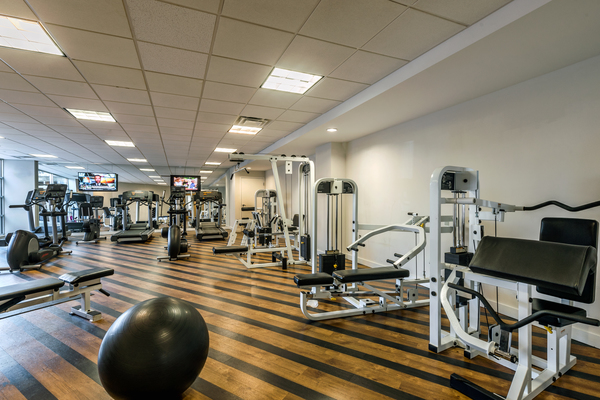 fitness center at Aventine at Fort Totten, A Greystar Avana Community