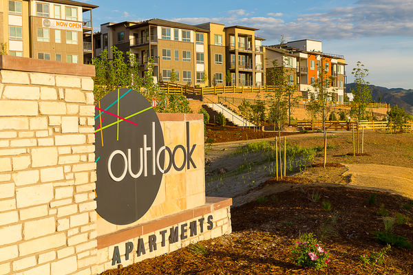 signage at Outlook Golden Ridge Apartments