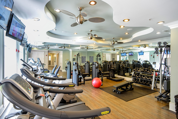 fitness center at Avana Uptown Apartments