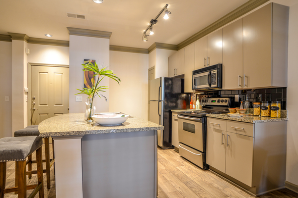 kitchen at Avana Uptown Apartments