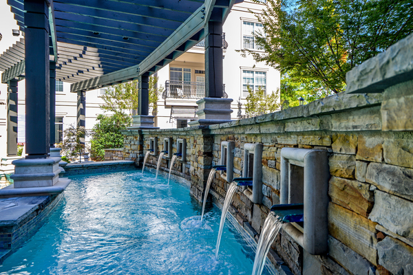 pool area at Avana Uptown Apartments
